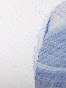 Between the lines Blue drawing No.4