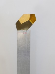Incommensurable-8Irregular Dodecarhedron-brass