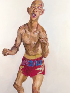 Insane-K1-Boxer 2011 Oil painting, 130 x180 cm.