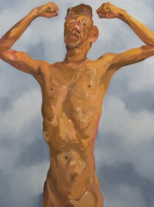 Insane-K6-Skinny Body Builder 1, 2011 Oil painting, 100 x 120 cm.