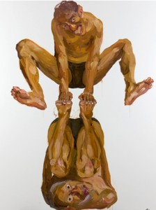 Insane-k2-Human Tower, 2011 Oil painting, 150 x 180 cm.