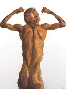 Insane-k7-Skinny Body Builder 2, 2011 Oil painting, 100 x 120 cm.