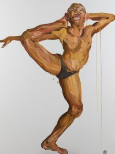 Insane-k9-Acrobatics 2, 2011 Oil painting, 130 x 160 cm