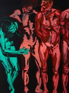 Uncensored Tawan-Who is Better-2012 oil and acrylic on canvas 170 x 230 cm